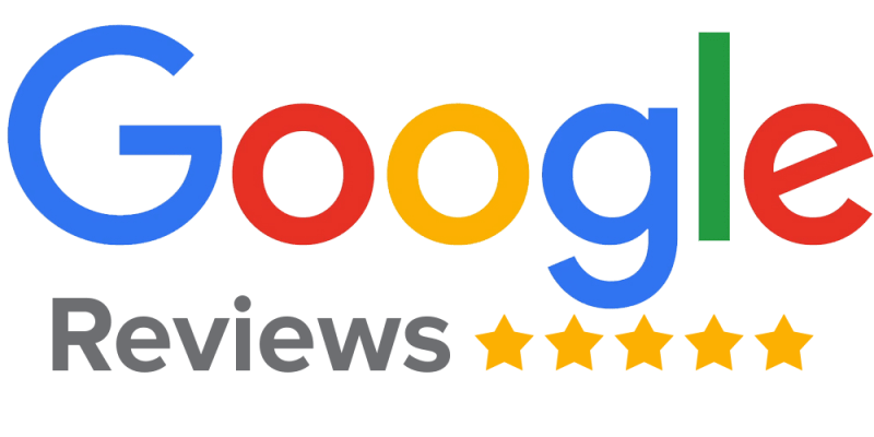 google logo med reviews fem stjerner